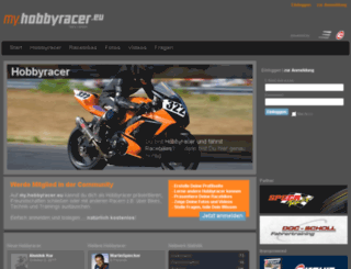 my.hobbyracer.eu screenshot