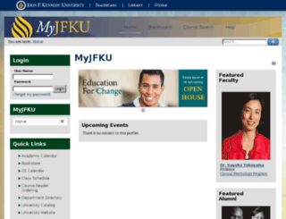 my.jfku.edu screenshot