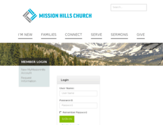 my.missionhills.org screenshot