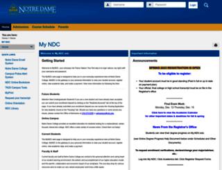 my.ndc.edu screenshot