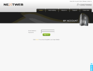 my.nextweb.biz screenshot
