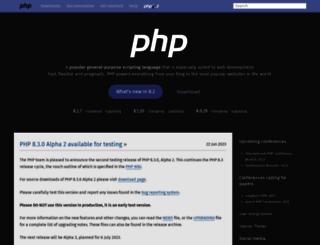 my.php.net screenshot
