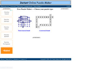 my.puzzle-maker.com screenshot