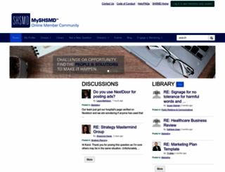my.shsmd.org screenshot