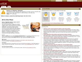 my.ulm.edu screenshot