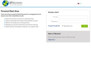 my.utmarkets.com screenshot