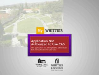 my.whittier.edu screenshot