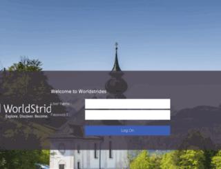 my.worldstrides.net screenshot