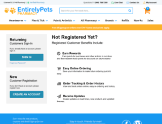 myaccount.entirelypetspharmacy.com screenshot