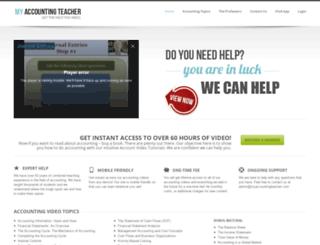 myaccountingteacher.com screenshot