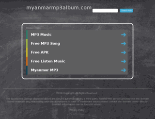 myanmarmp3album.com screenshot