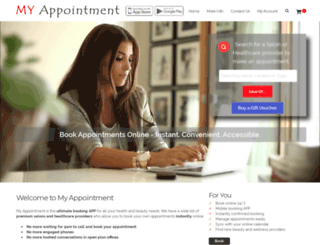 myappointment.co.za screenshot