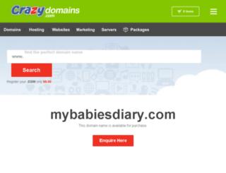 mybabiesdiary.com screenshot