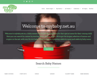 mybaby.net.au screenshot