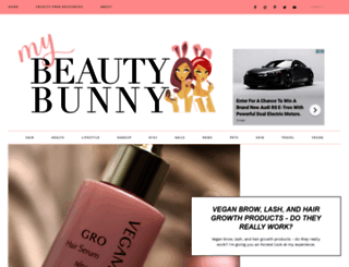 mybeautybunny.com screenshot