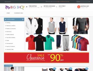 mybigshop.net screenshot