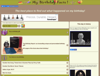 mybirthdayfacts.com screenshot