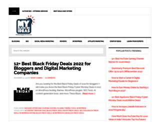 mybloggingideas.com screenshot