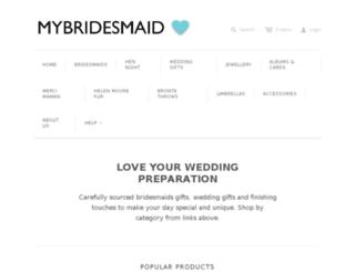 mybridesmaid.com screenshot
