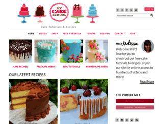 mycakeschool.com screenshot