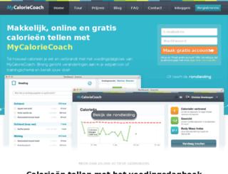 mycaloriecoach.com screenshot