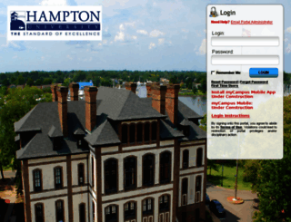 mycampus.hamptonu.edu screenshot