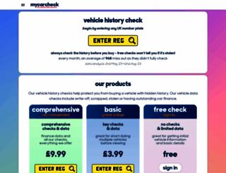 mycarcheck.com screenshot