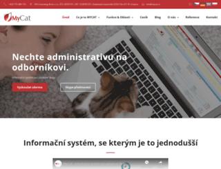 mycat.cz screenshot