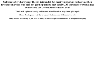 mycharity.org screenshot