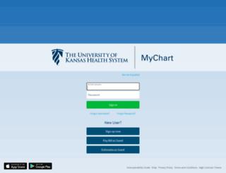 mychart.kumed.com screenshot