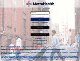 Mychart Metrohealth Org Screenshot