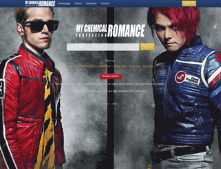 mychemicalromancefanfiction.com screenshot