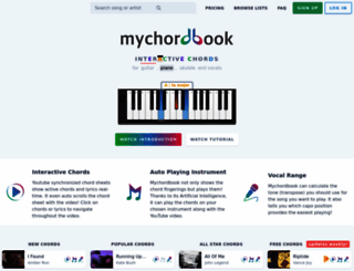 mychordbook.com screenshot