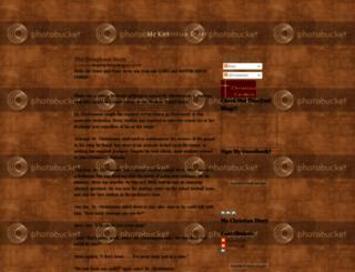 mychristiandiary.blogspot.com screenshot