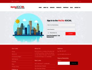 mycity-social.com screenshot