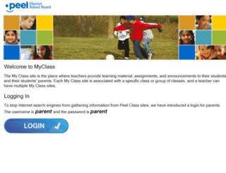 myclass.peelschools.org screenshot