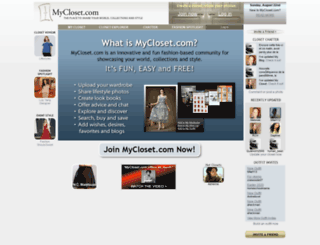 mycloset.com screenshot