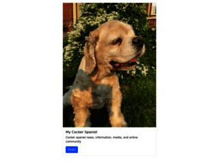 mycockerspaniel.com screenshot