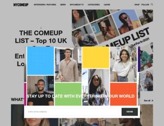 mycomeup.com screenshot