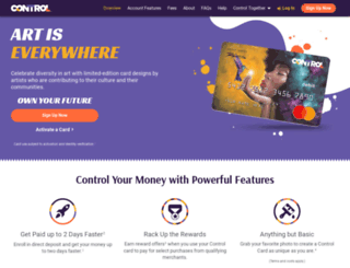 mycontrolcard.com screenshot