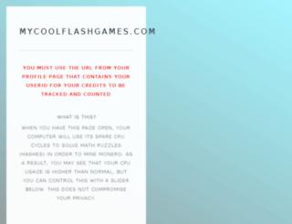 mycoolflashgames.com screenshot
