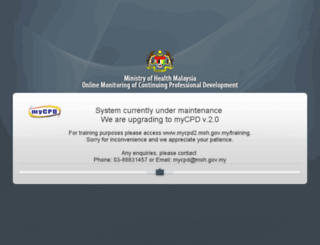 mycpd.moh.gov.my screenshot