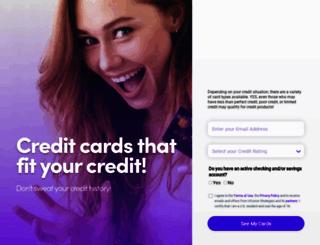 mycreditcardfinder.com screenshot