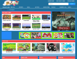 mycricketgames.com screenshot