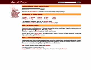 mycroftproject.com screenshot