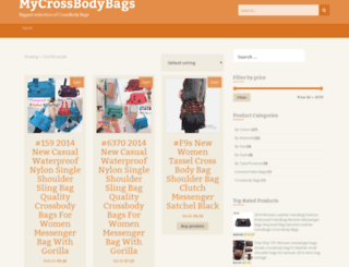 mycrossbodybags.com screenshot