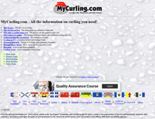 mycurling.com screenshot
