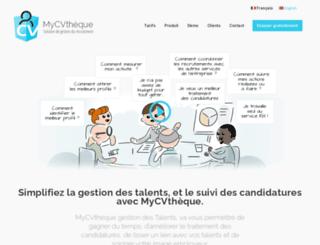 mycvtheque.com screenshot
