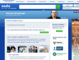 myebookorganizer.com screenshot