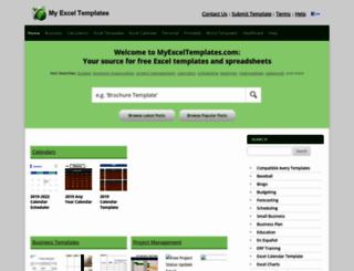 myexceltemplates.com screenshot